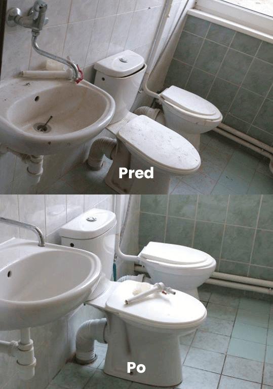 Čistenie WC